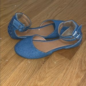 Girls Denim Flats
